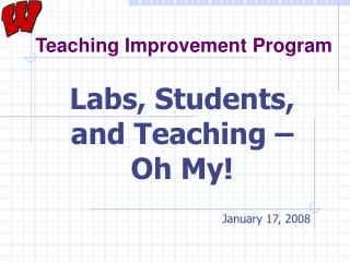 Teaching Improvement Program