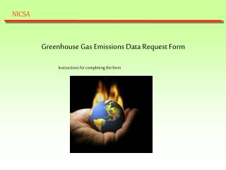 Greenhouse Gas Emissions Data Request Form