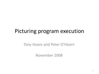 Picturing program execution