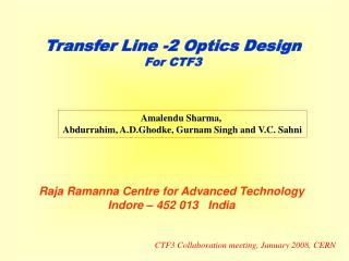 Transfer Line -2 Optics Design For CTF3