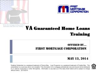 VA  Guaranteed Home Loans  Training