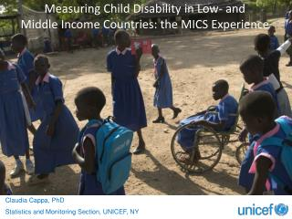 Measuring Child Disability in Low- and  Middle Income Countries: the MICS Experience