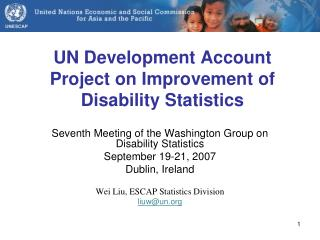 UN Development Account Project on Improvement of Disability Statistics