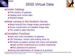 SDSS Virtual Data