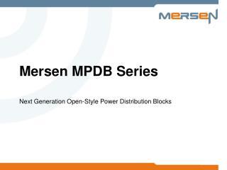 Mersen MPDB Series