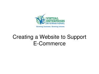Creating a Website to Support  E-Commerce