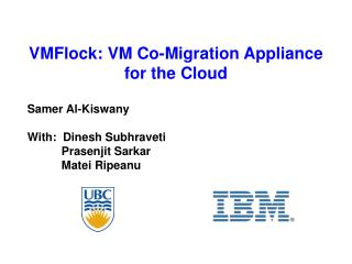 VMFlock: VM Co-Migration Appliance for the Cloud