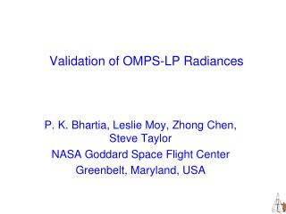 Validation of OMPS-LP Radiances