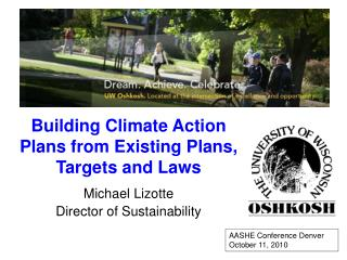 Building Climate Action Plans from Existing Plans, Targets and Laws
