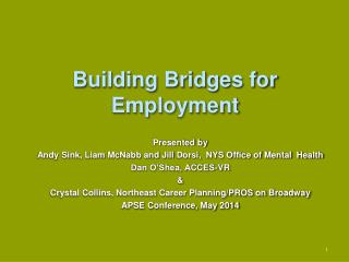 Building Bridges for Employment