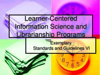 Learner-Centered Information Science and Librarianship Programs
