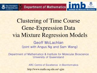 Clustering of Time Course  Gene-Expression Data   via Mixture Regression Models