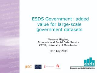 ESDS Government: added value for large-scale government datasets