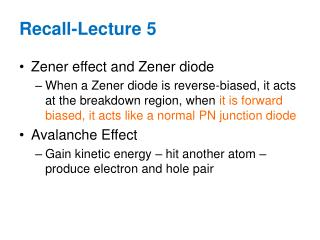 Zener effect and Zener diode