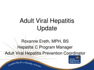 Adult Viral Hepatitis Update