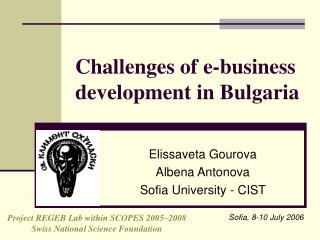 Challenges of e-business development in Bulgaria