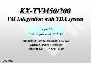 KX-TVM50/200 VM Integration with TDA system