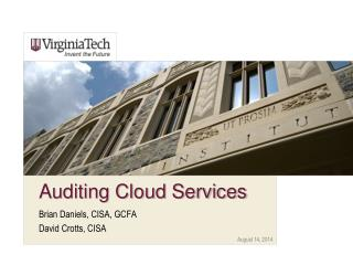 Auditing Cloud Services