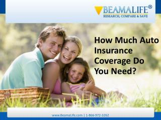 How Much Auto Insurance Coverage Do You Need