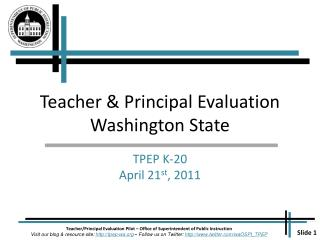 Teacher & Principal Evaluation Washington State