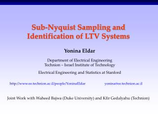 Sub-Nyquist Sampling and Identification of LTV Systems