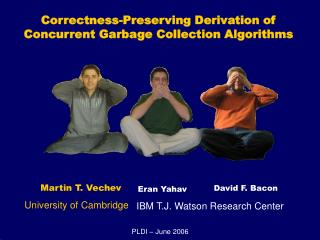 Correctness-Preserving Derivation of Concurrent Garbage Collection Algorithms