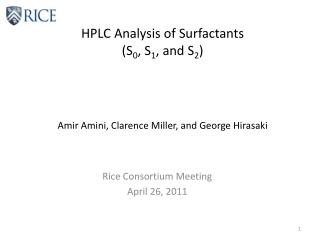 HPLC Analysis of Surfactants (S 0 , S 1 , and S 2 )