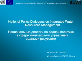 National Policy Dialogues on Integrated Water Resources Management