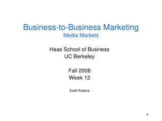 Business-to-Business Marketing Media Markets
