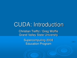 Introduction to CUDA Programming