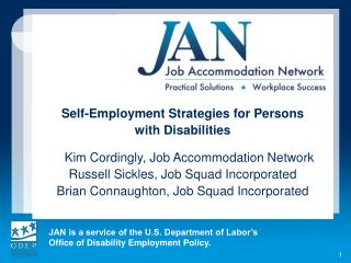 Self-Employment Strategies for Persons