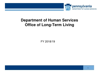 Long Term Care and the Budget