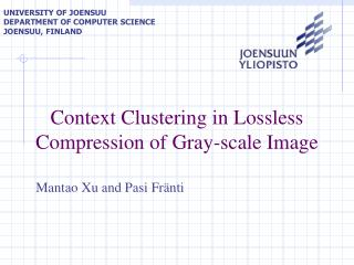 Context Clustering in Lossless Compression of Gray-scale Image