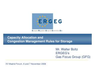Capacity Allocation and Congestion Management Rules for Storage