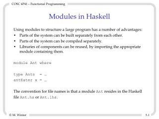 Modules in Haskell