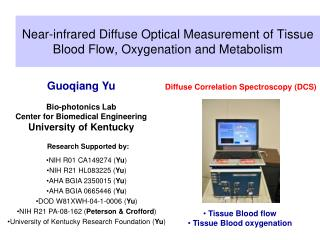 Near-infrared Diffuse Optical Measurement of Tissue Blood Flow, Oxygenation and Metabolism