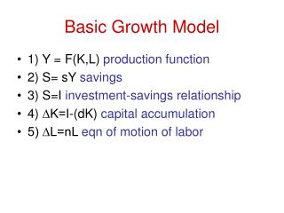 Basic Growth Model