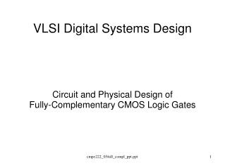 VLSI Digital Systems Design
