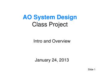 AO System Design  Class Project