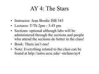 AY 4: The Stars