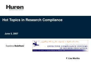 Hot Topics in Research Compliance