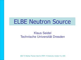 ELBE Neutron Source