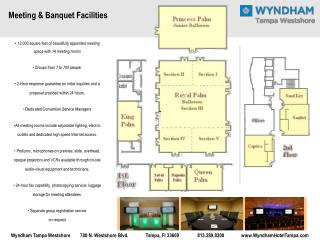 12,000 square feet of beautifully appointed meeting space with 14 meeting rooms