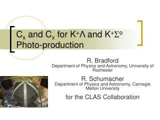 C x  and C x  for K + Λ  and K + S o  Photo-production