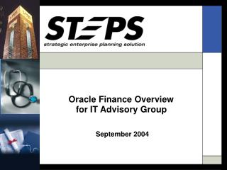 Oracle Finance Overview  for IT Advisory Group September 2004