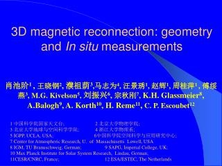 3D magnetic reconnection: geometry and  In situ  measurements