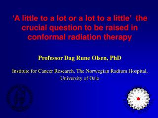 Conformal Radiation Therapy