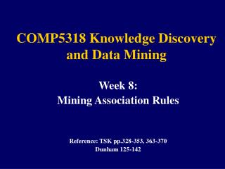 COMP5318 Knowledge Discovery and Data Mining