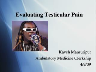 Evaluating Testicular Pain