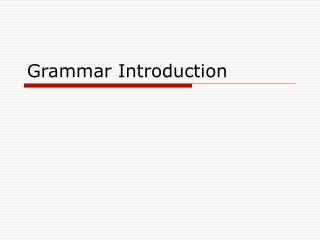 Grammar Introduction